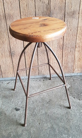 timber swivel stool