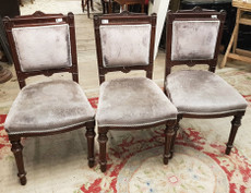 3 matching cloth chairs