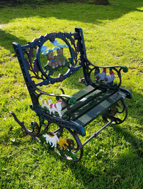 childs cast iron rocker