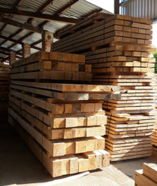 selection of new oak beams