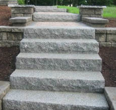granite step in situ 2