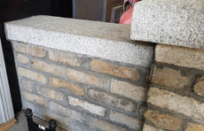 granite wall capping in situ 2