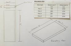 Dimensions bullnose step