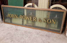 old powers glass signs