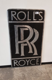 Rolls Royce sign (B&W)