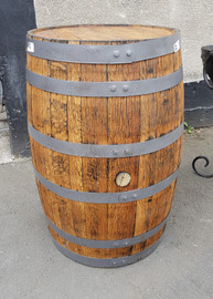 oak barrels sandblasted and sealed