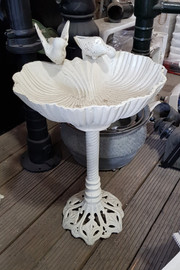 large cast iron bird bath