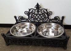 Cast iron dog bowls