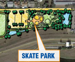 John Young Community Park is scheduled to open in late 2014 with a Team Pain Skate Spot.