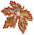 Maple Leaf metal & crystal pin