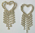 Crystal Earrings - heart with dangles