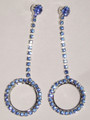 Crystal Earrings - drop with crystal circle