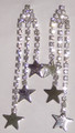 Crystal earrings - all crystal with 3 strands and stars
