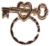 SPEC pin Heart & Key