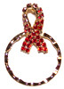 SPEC pin Crystal Red Ribbon