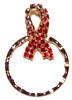 SPEC pin Crystal Red Ribbon