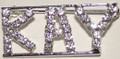 KAY crystal name pin