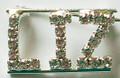 LIZ crystal name pin