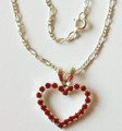 Red Heart Valentine crystal necklace
