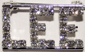 LEE crystal name pin