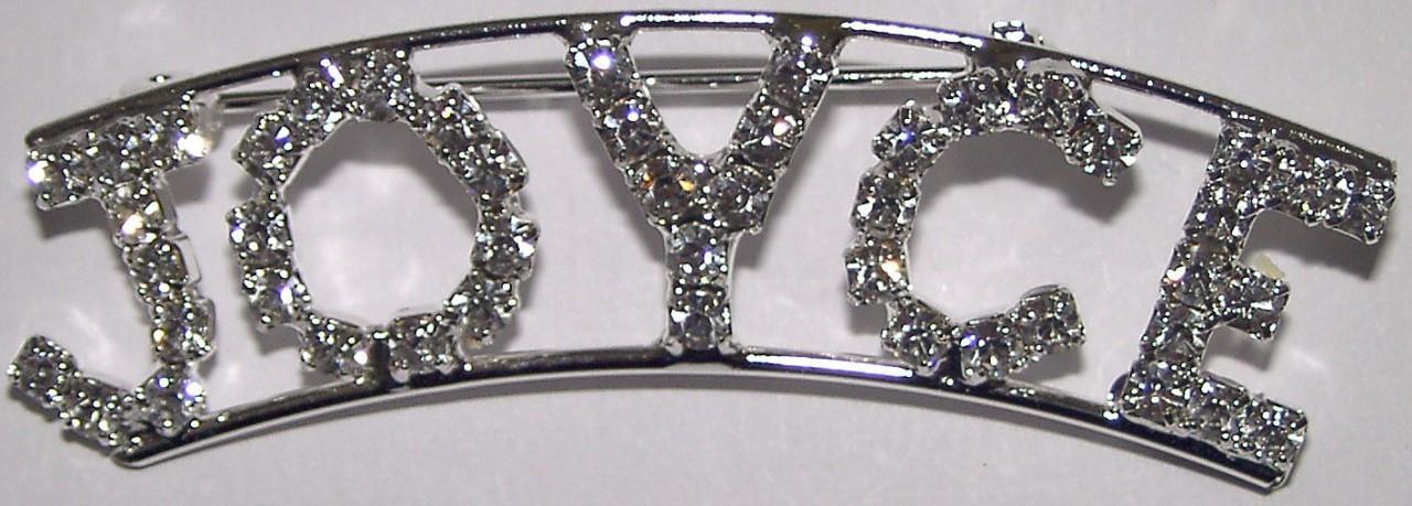 Detti Originals Personalized Rhinestone Brenda Name pin