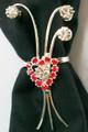 Napkin rings/scarf pin - set of 4