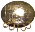 Oval Metal Medal Holder