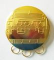 Round Metal Medal Holder pin