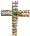 Crystal cross pin/necklace
