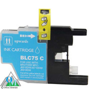 Compatible Brother LC-75 Cyan Inkjet Cartridge