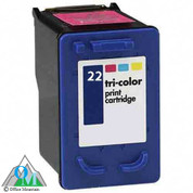 Re-manufactured Hewlett-Packard C9352AN (HP 22) Inkjet Cartridge