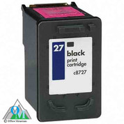 Re-manufactured Hewlett-Packard C8727AN (HP 27) Inkjet Cartridge