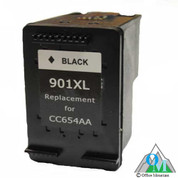Re-manufactured Hewlett-Packard CC654AN (HP 901XL) Black Inkjet Cartridge