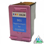 Re-manufactured Hewlett-Packard CC656AN (HP 901XL) Color Inkjet Cartridge