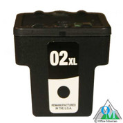 Re-manufactured Hewlett-Packard C8719 (HP 02XL) Black Inkjet Cartridge