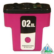 Re-manufactured Hewlett-Packard C8772 (HP 02XL) Magenta Inkjet Cartridge