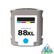 Re-manufactured Hewlett-Packard C9391AN (HP 88XL) Cyan Inkjet Cartridge