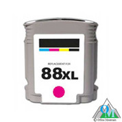 Re-manufactured Hewlett-Packard C9392AN (HP 88XL) Magenta Inkjet Cartridge
