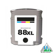 Re-manufactured Hewlett-Packard C9396AN (HP 88XL) Black Inkjet Cartridge