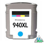 Re-manufactured Hewlett-Packard C4907AN (HP 940XL) Cyan Inkjet Cartridge