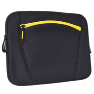 "Targus TSS125USX-01 Water-Resistant Neoprene Slipskin Notebook Case - Fits 12"" Laptops or Netbooks (Black/Yellow) by Targus"