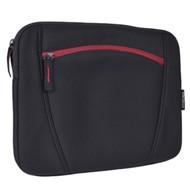 """Targus TSS12501USX-01 Water-Resistant Neoprene Slipskin Notebook Case - Fits 12"""" Laptops or Netbooks (Black/Red) by Targus"""