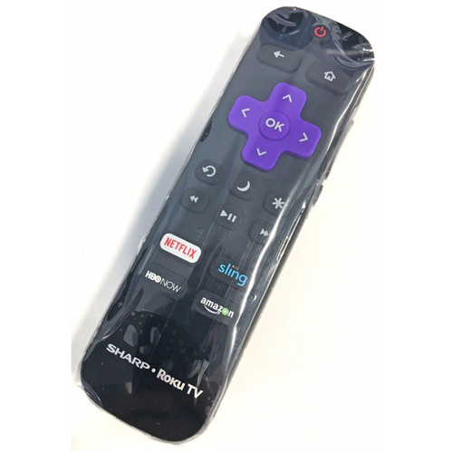SHARP LC-RCRUS-17 OEM Roku TV Remote Control NEW LCRCRUS17