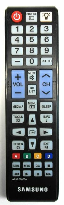 Original OEM Samsung AA59-00600A LCD Plasma HDTV TV Remote Control Un55eh6000 Un55eh6050
