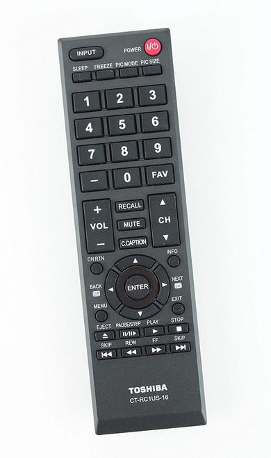 Toshiba CT-RC1US-16 TV Remote Control for Toshiba 40L310U 32L110U 49L310U 55L310U 43L310U 28L110U