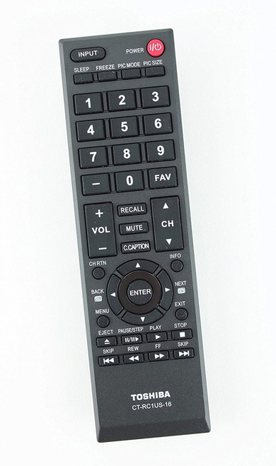 oshiba CT-RC1US-16 TV Remote Control for Toshiba 40L310U 32L110U 49L310U 55L310U 43L310U 28L110U 65L350U Brand
