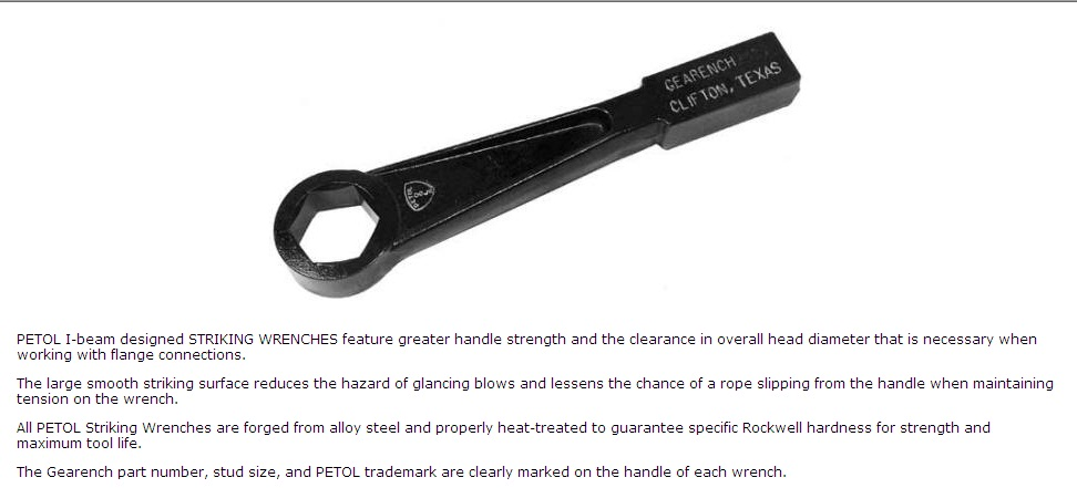 Striking and Hammer Wrenches