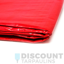 3.6m x 5.4m Red/Silver Poly Tarp - 160gsm