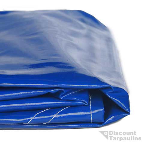 650gsm Blue Pvc Tarpaulin With Tearstop Weave Discount