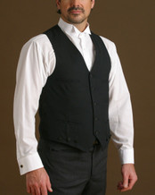 Vest with lining at the back